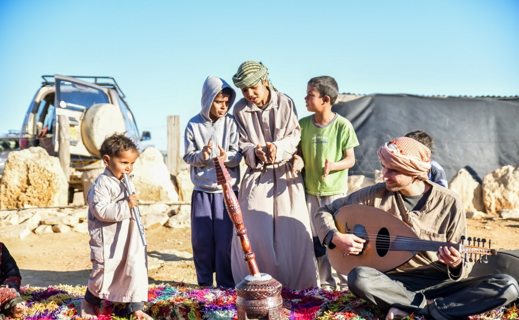 Bedouins in the Israeli desert