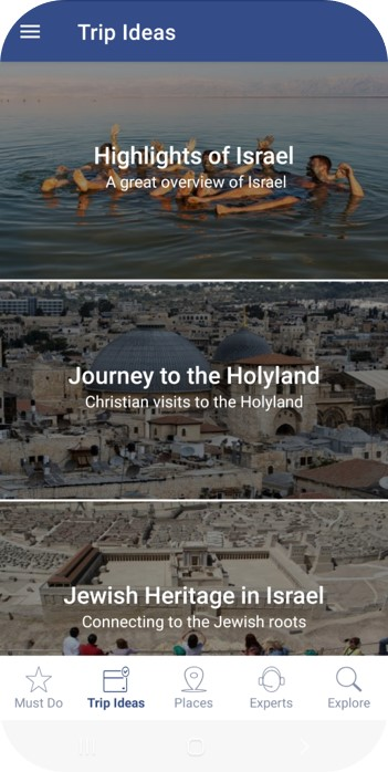 Trip Ideas for Israel